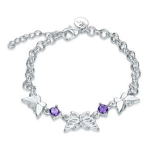 Jewelry - Silver Plated Butterfly Charm Bracelet